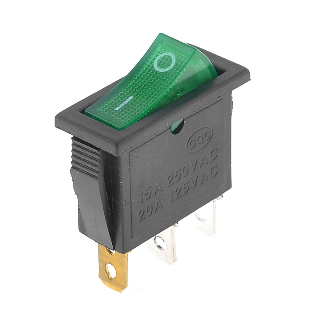 Green-Illuminated-Light-On-Off-SPST-Boat-Rocker-Switch-15A-250V-AC