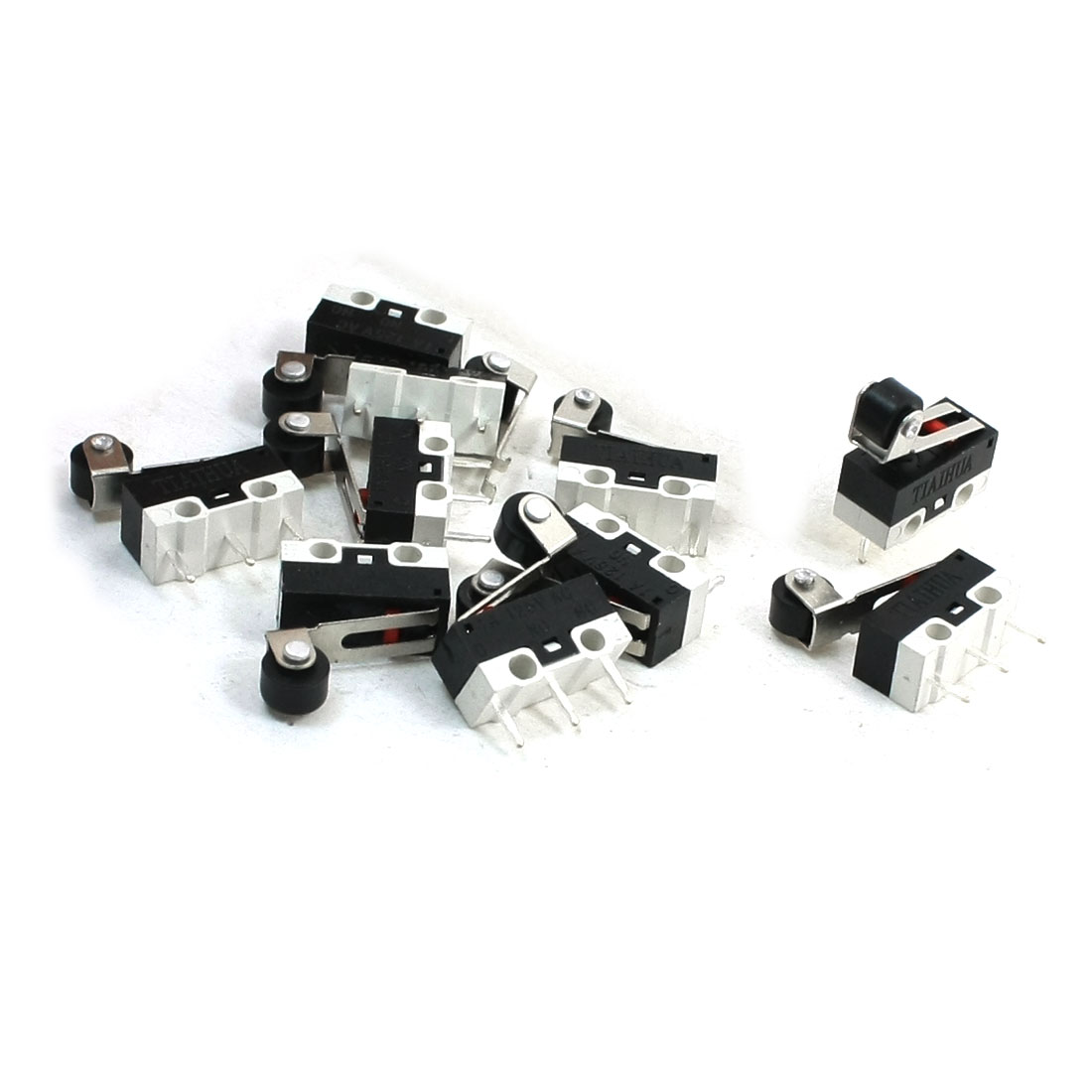 10Pcs-1A-125VAC-NO-NC-Momentary-Roller-Hinge-Lever-SPDT-Micro-Switches