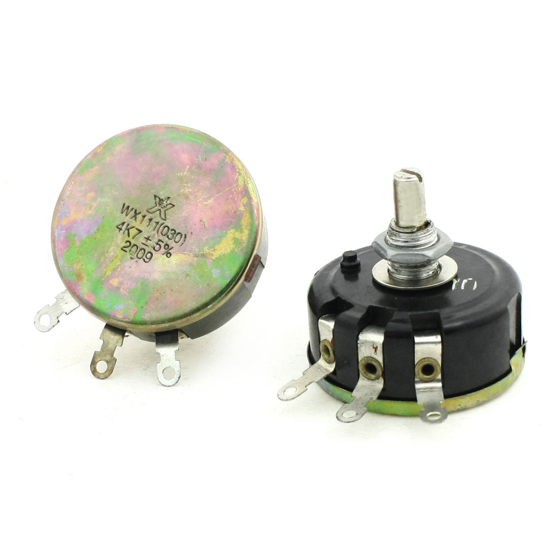 2-Pcs-6mm-Round-Shaft-Rotary-Linear-Taper-Carbon-Potentiometer-4-7K-ohm