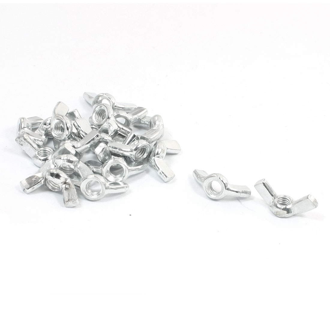 20pcs-Butterfly-Wing-Nuts-6mm-M6-Bright-Zinc-Coated-27-x-11-x-12mm