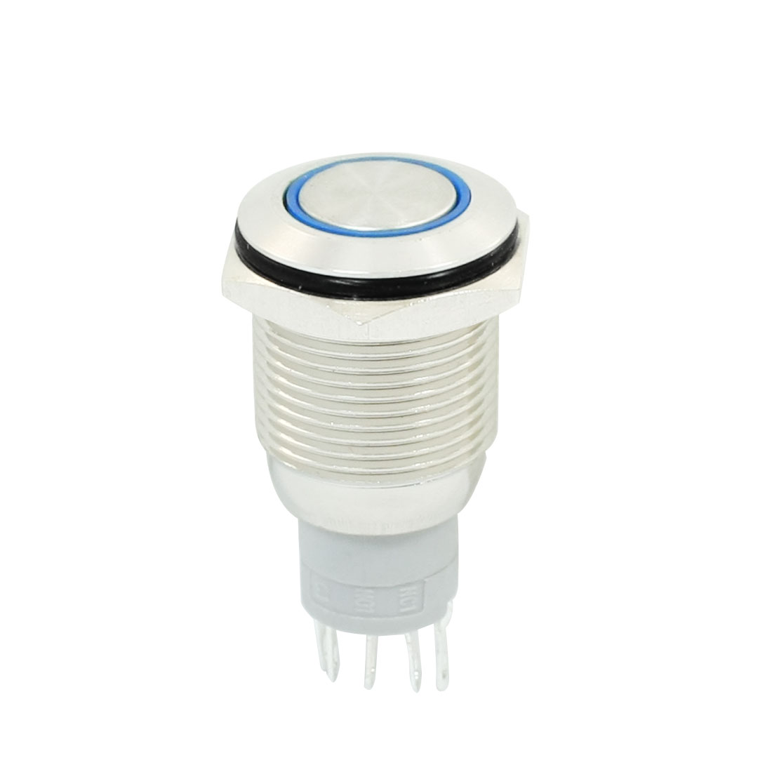 16mm-Dia-Mount-Self-Locking-Blue-LED-Stainless-Steel-Button-Switch-w-Seal-Ring