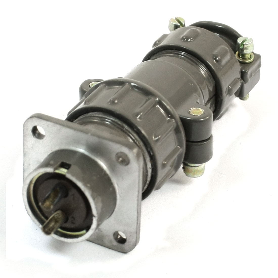 Flange-Mounting-P20-2-Core-20mm-2-Pin-CNC-Metal-Aviation-Connector