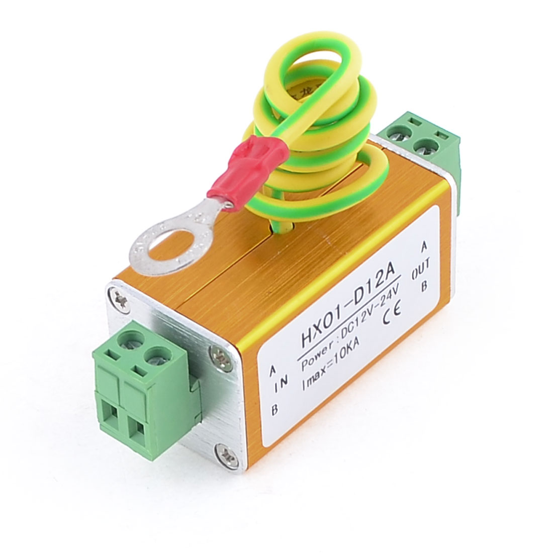 12V-24V-Power-Supply-Surge-Protection-Device-Arrester-w-Earth-Cable