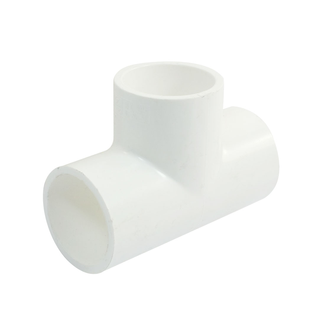 20mm-x-20mm-3-Ways-Plain-Equal-Tee-PVC-U-Pipe-Slip-Connector-Adapter-White