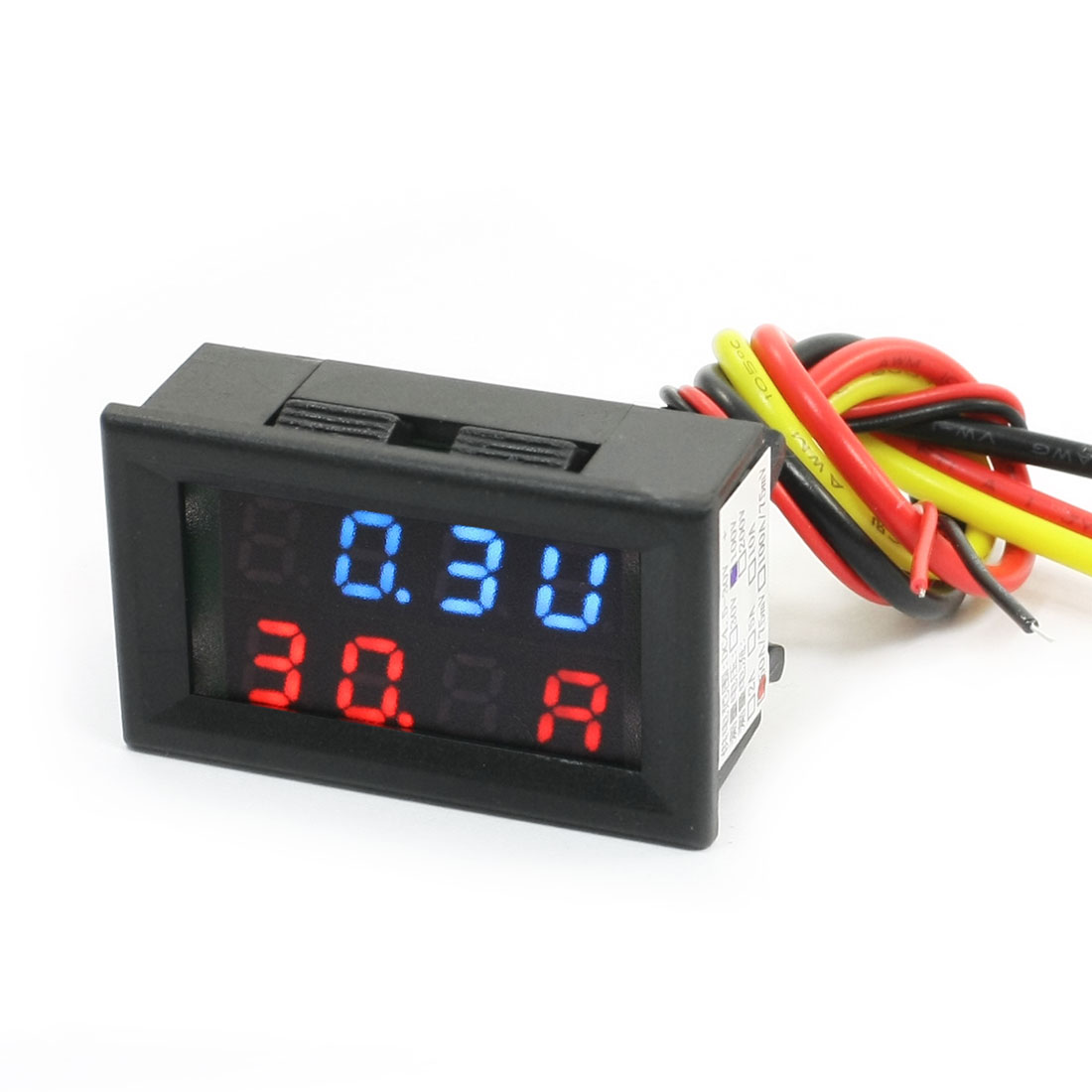DC-Powered-0-100V-50A-75mV-Digital-Red-Blue-LED-Volt-Amp-Test-Panel-Meter