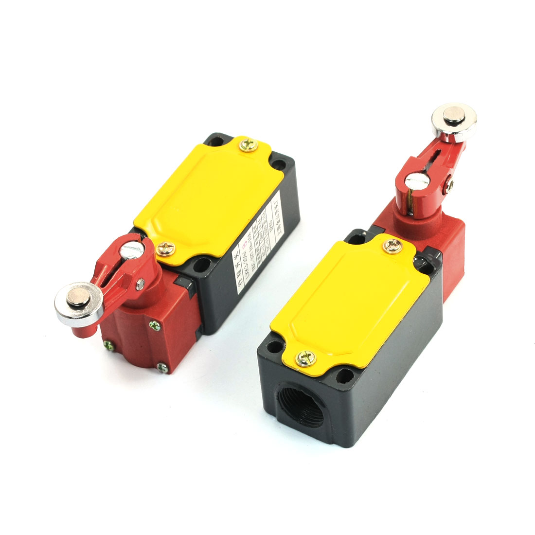 2Pcs-LSK3-20S-B-Momentary-Enclosed-Limit-Switch-w-Adjustable-Roller-Lever-Arm