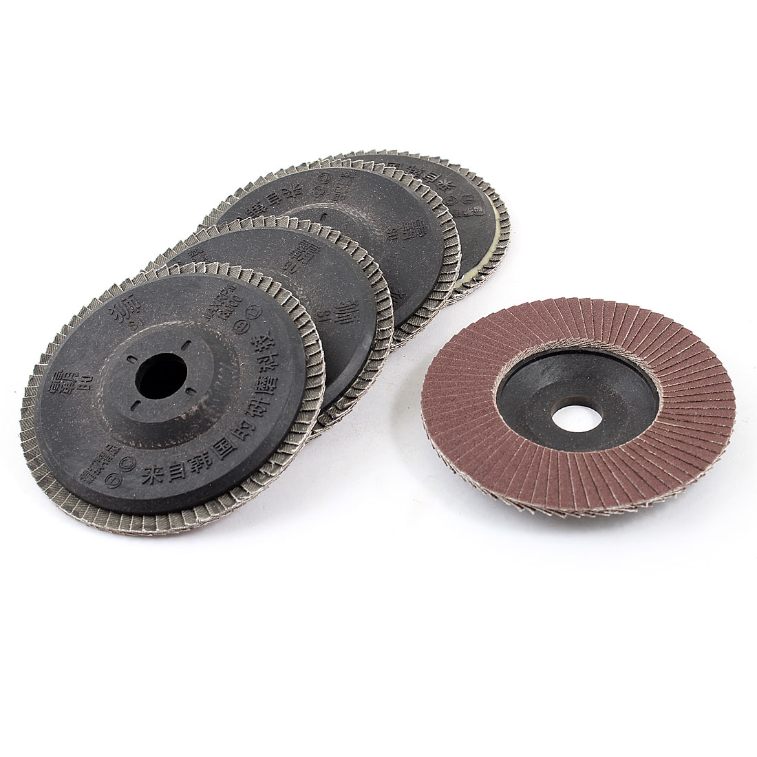 5-Pcs-4-Outside-Dia-120-Fan-Type-Grit-Flap-Sanding-Discs-Polishing-Wheels