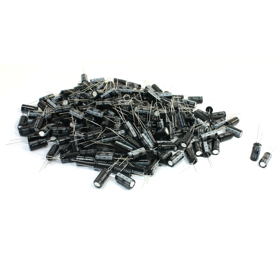 250Pcs-Electrolytic-Capacitors-400V-15uF-Volume-21mm-x-10mm