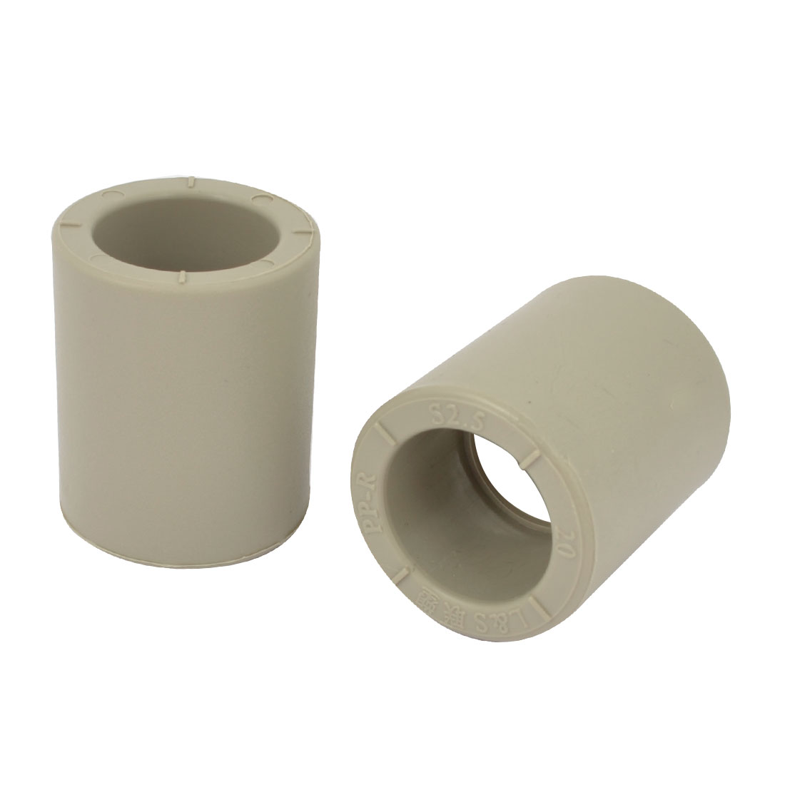 2-Pcs-Gray-PVC-20mm-Inner-Diameter-Straight-Pipe-Tube-Connector