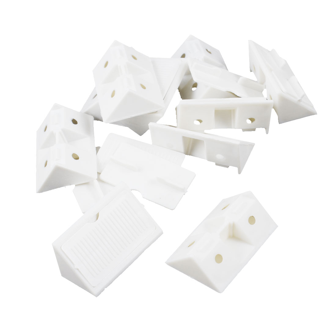 Shelf-Door-Cabinet-Plastic-Corner-90-Degree-Angle-Brackets-White-10-Pcs