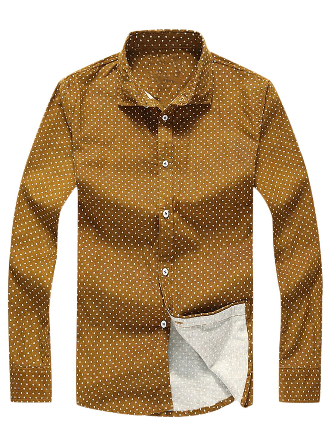 Single Breasted Dots Prints Casual Shirts for Men