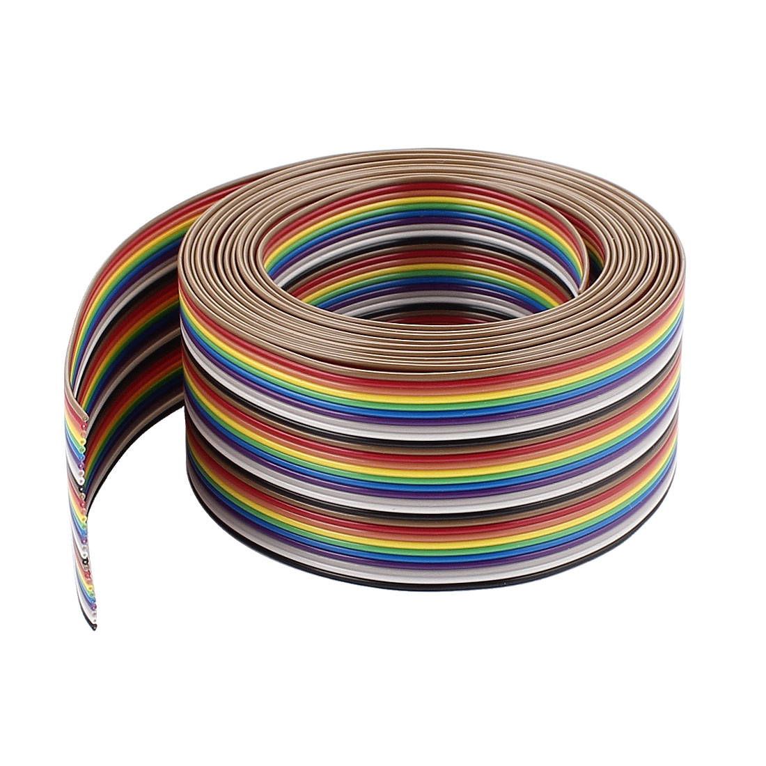 10ft 30Pin Conductor Rainbow Color Flat Ribbon Cable IDC Wire 1.27mm