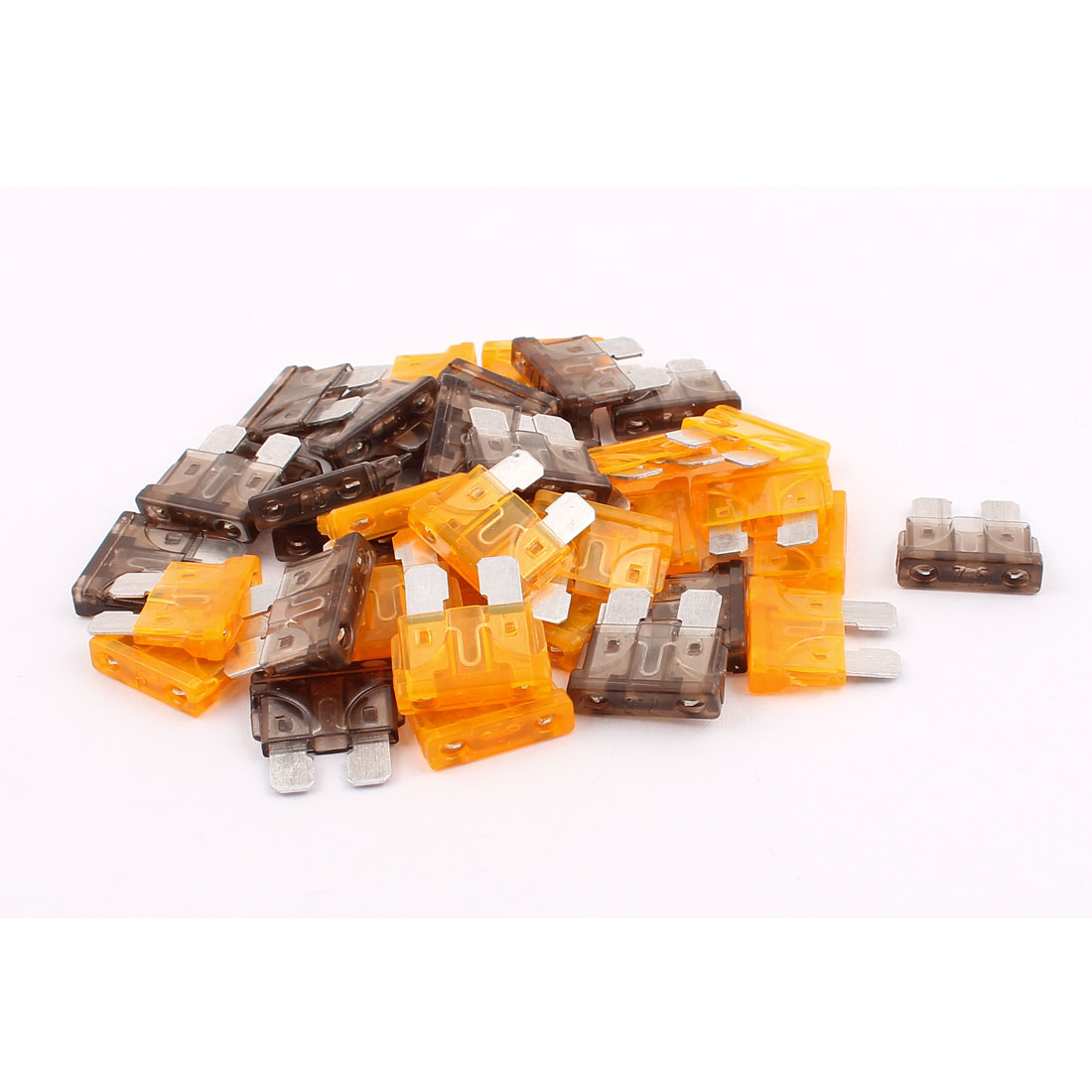 40pcs Automotive voiture bateau SUV Mini Fusible ATO ATC Lame 7,5A 5A Orange Gri