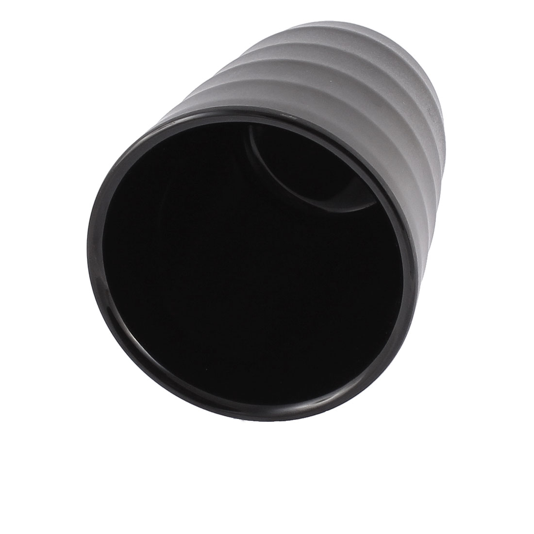 Home Restaurant Plastic Cylinder Shaped Water Tea Drinking Cup Black