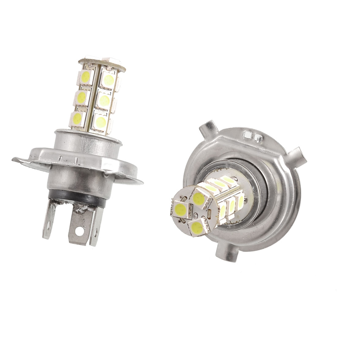 2-Stueck-18-SMD-5050-LED-Nebelscheinwerfer-H4-Lampe-fuer-Auto