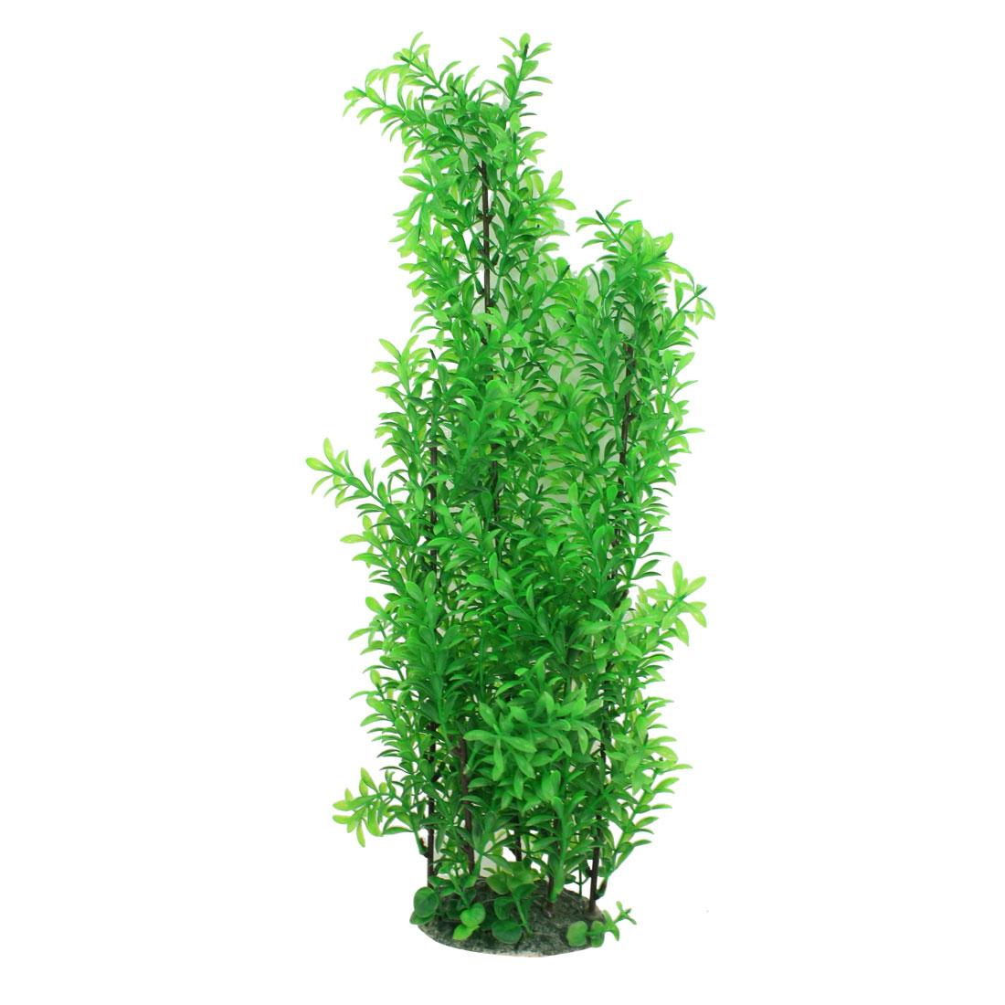 """23.6"""" Vert Aquarium Arbre d'ornement Base céramique Plante en plastique"""