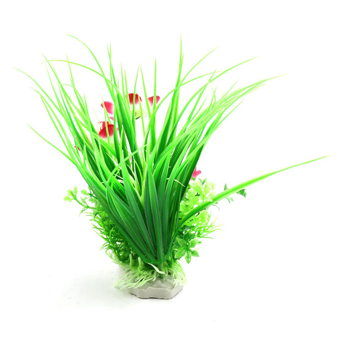 Multi-Couleur Plante fleurissant d'aquarium plastique Décoration d'aquarium 2