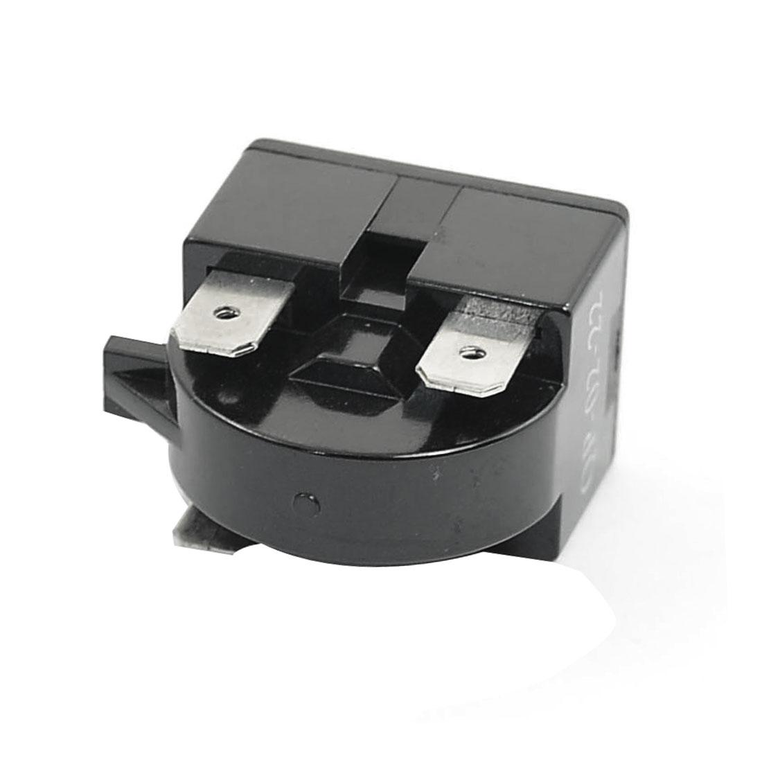3PCS Plastic Shell 22 Ohm 3 Pins Refrigerator PTC Starter Relay Black 2