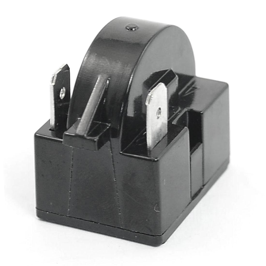 Plastic Housing 4.7 Ohm 3 Pin Refrigerator PTC Starter Relay Black 2