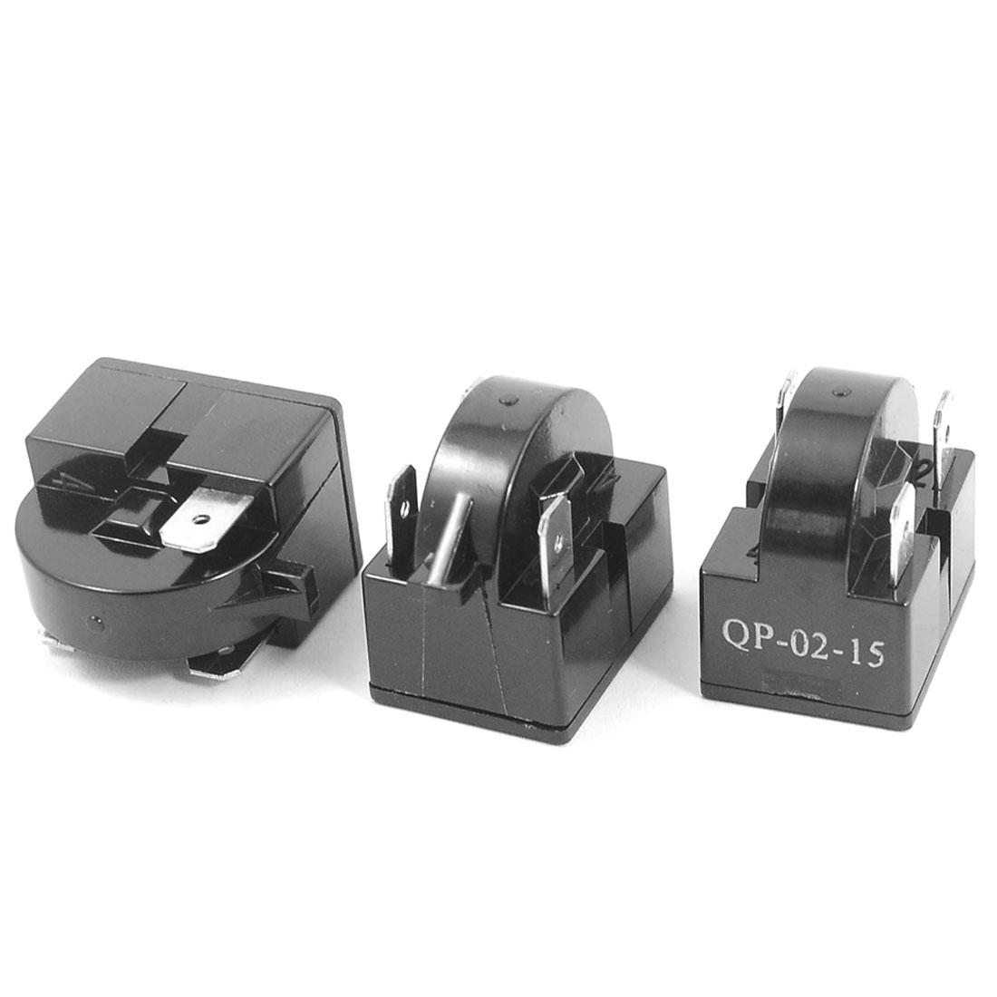 Plastic Shell 15 Ohm 3 Pins Refrigerator PTC Starter Compressor Relay 3PCS