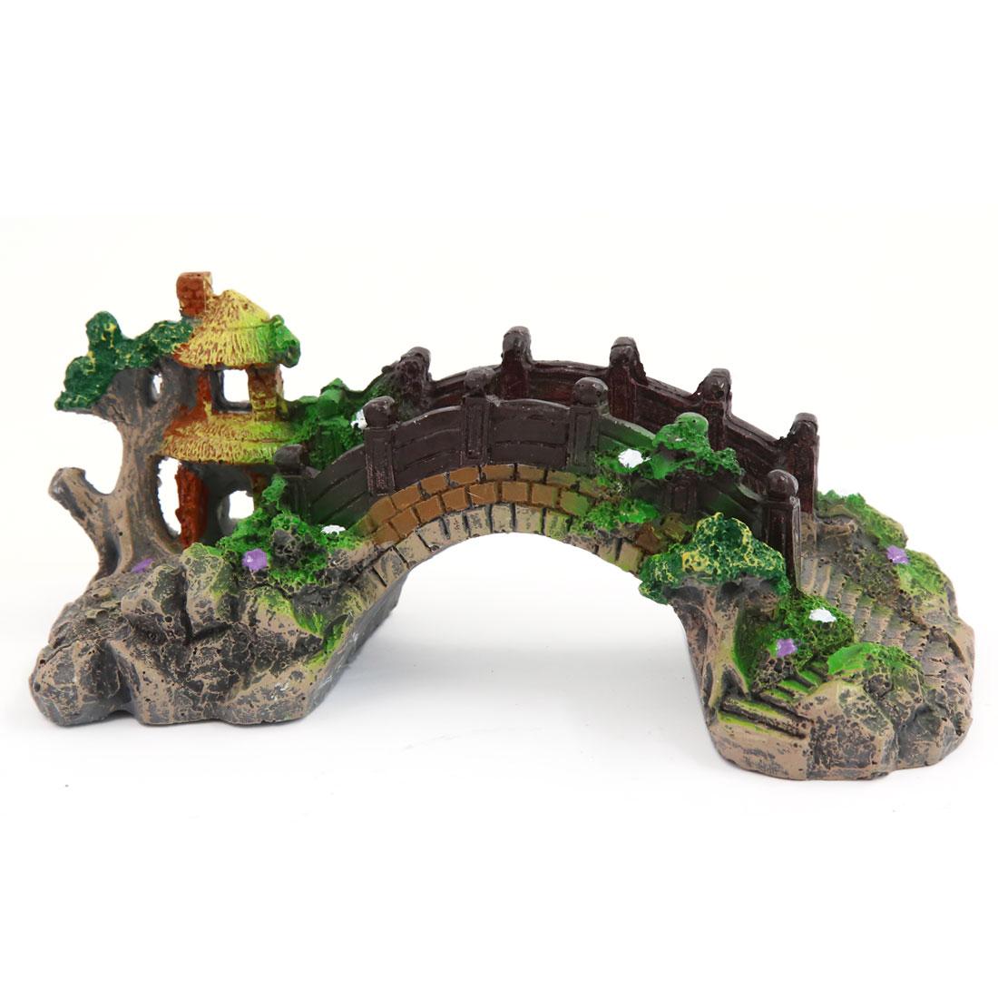 Décor d'aquarium en résine Paysage aquatique Rocaille artificielle Pont en arc