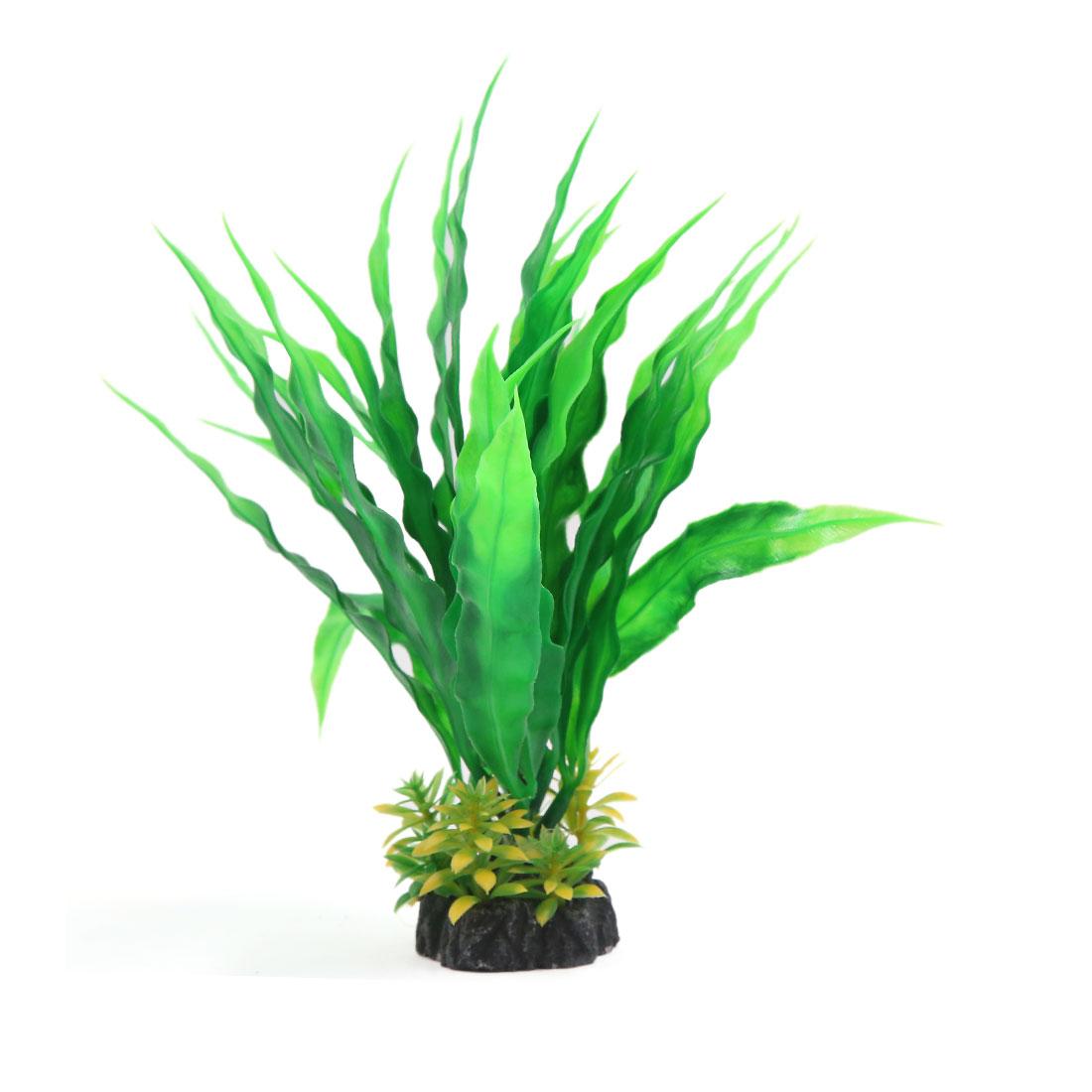 2 pièces 20cm Heut Plante en plastique Paysage aquatique Décoration d'aquarium 2