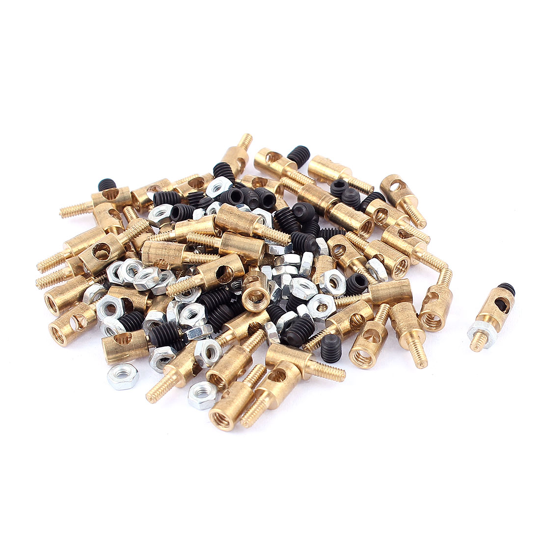 50pcs-4mm-x-2-5mm-Pushrod-Linkage-Stopper-Metal-for-RC-Model-w-Nuts