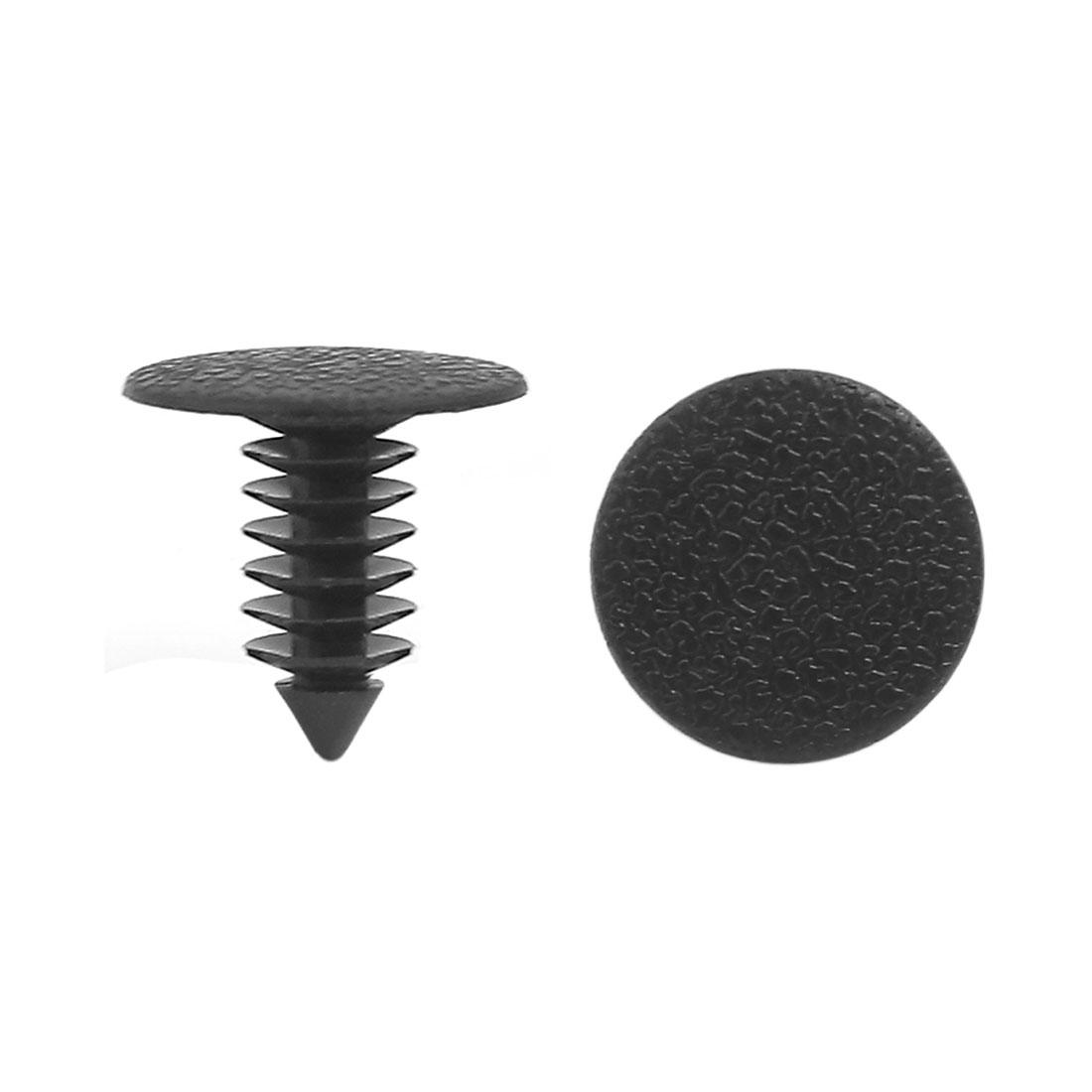 100PCS 9mm Hole Plastic Push in Rivet Panel Fixings Clips for Car Auto Vehicle