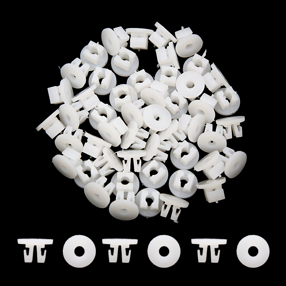 50pcs-9mm-Hole-14mm-Head-Auto-Car-Rivets-Door-Trim-Clips-Fasteners-White
