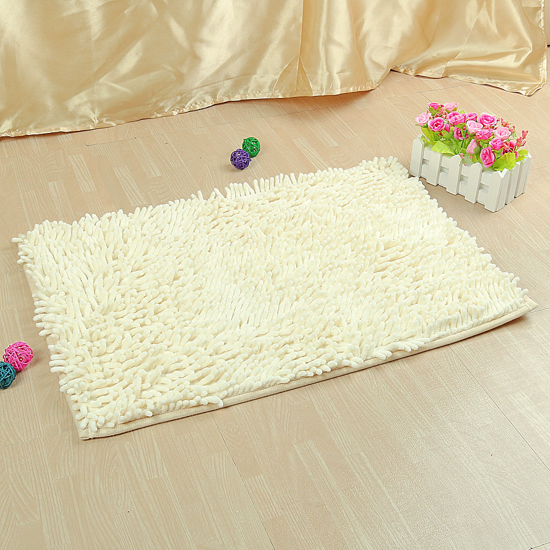 Soft Shaggy Non Slip Bath Mat Bathroom Shower Home Floor Rugs Carpet 40 x 60cm