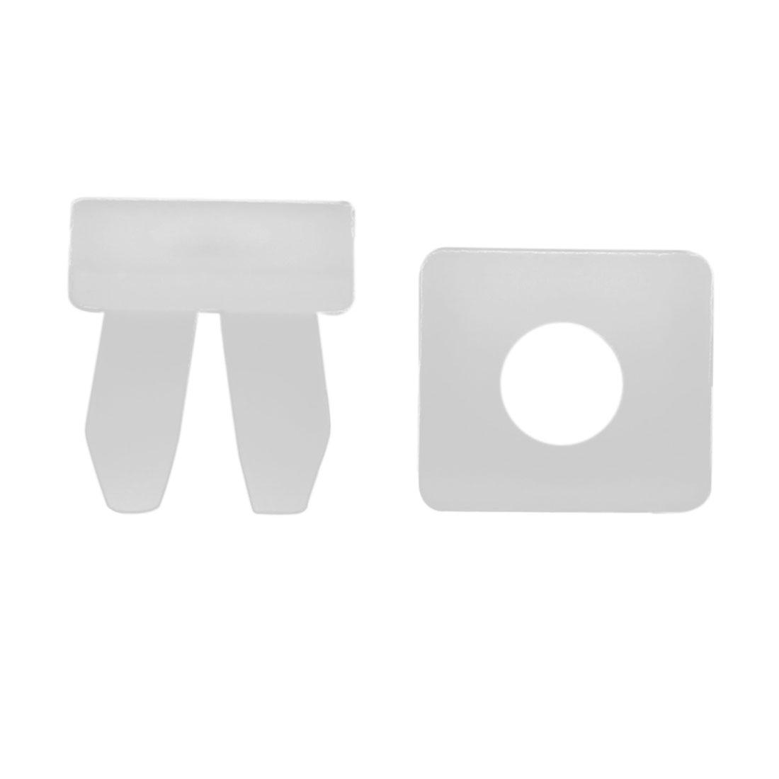 100Pcs 10mm Hole White Plastic Rivets Bumper Fender Fastener Clips for Car