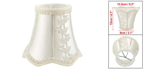 8cm-13.5cm Dia 12cm Height Cloth Candle Lamp Cover Shade Lampshade Yellowish