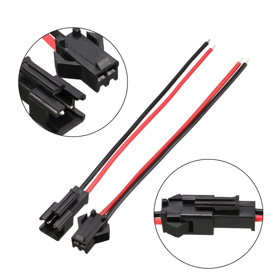 5-Pairs-JST-SM-Connector-2P-EL-Wire-Cable-Cord-Male-11cm-Female-10cm-Length thumbnail 3