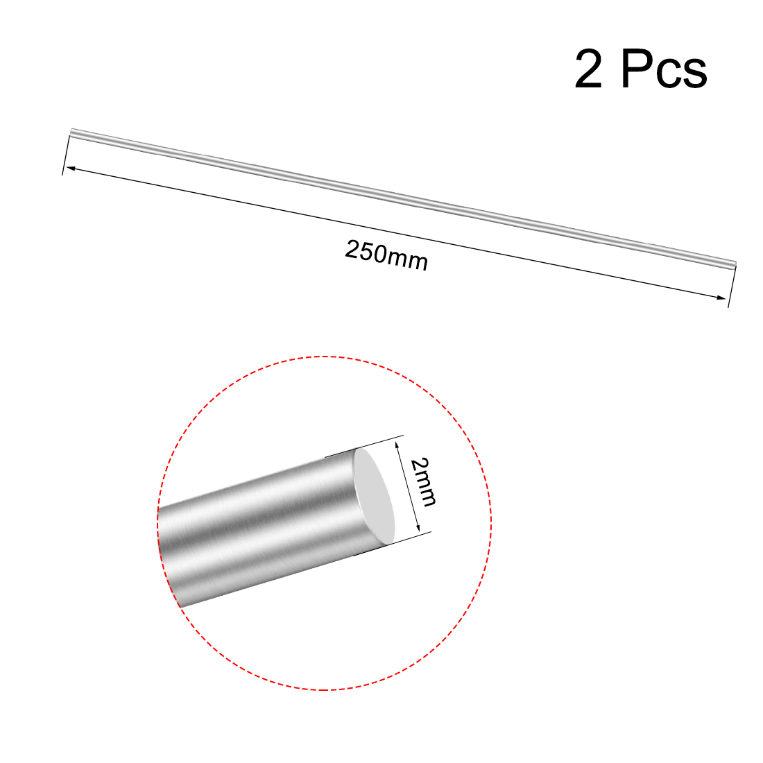 2-5-10-20Pcs-Hollow-Stainless-Steel-Shaft-Round-Rod-for-DIY-Toy-RC-Car-Model thumbnail 3