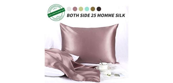 25 Momme Silk Pillowcase W Zipper Closure For Skin And Hair
