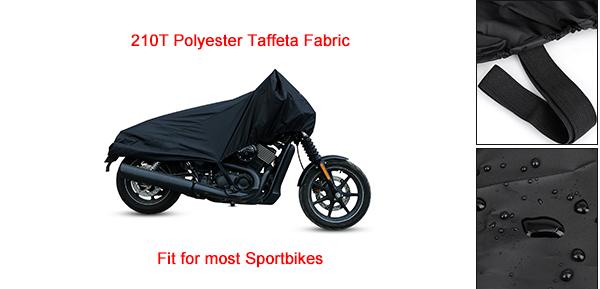 M Black Motorcycle Scooter Half Cover Outdoor Waterproof Rain Dust UV Protector